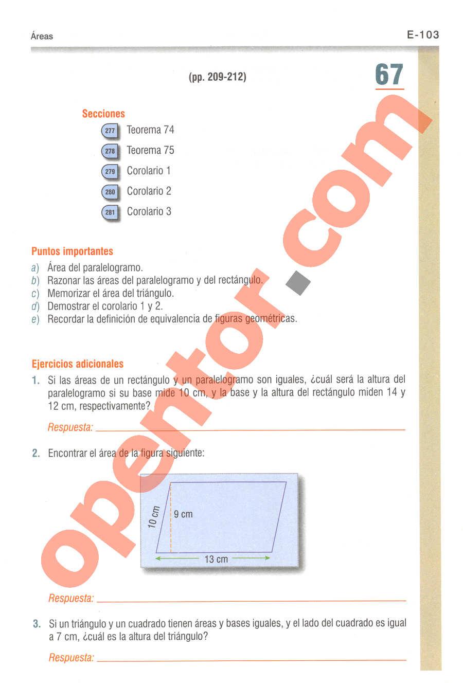 Geometría y Trigonometría de Baldor - Página E103