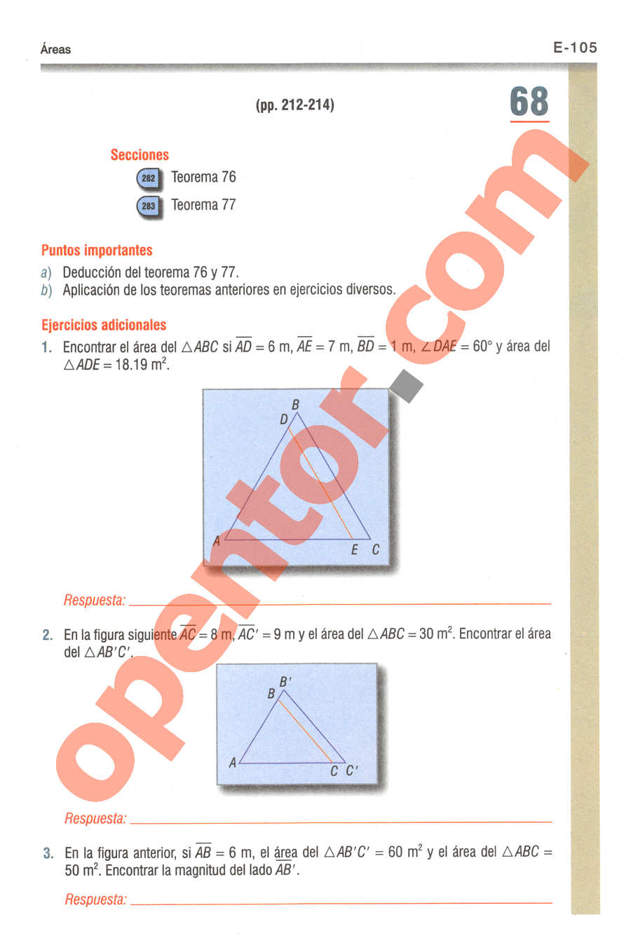 Geometría y Trigonometría de Baldor - Página E105