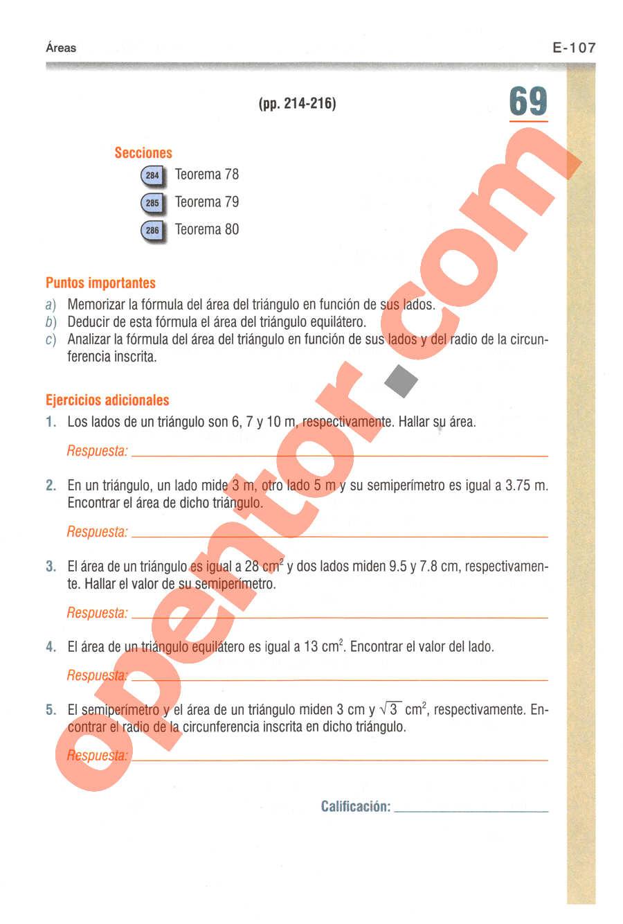 Geometría y Trigonometría de Baldor - Página E107