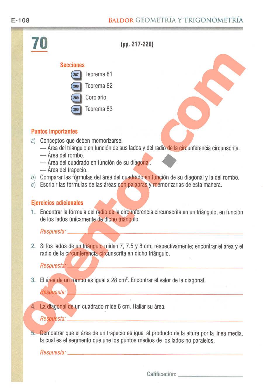 Geometría y Trigonometría de Baldor - Página E108