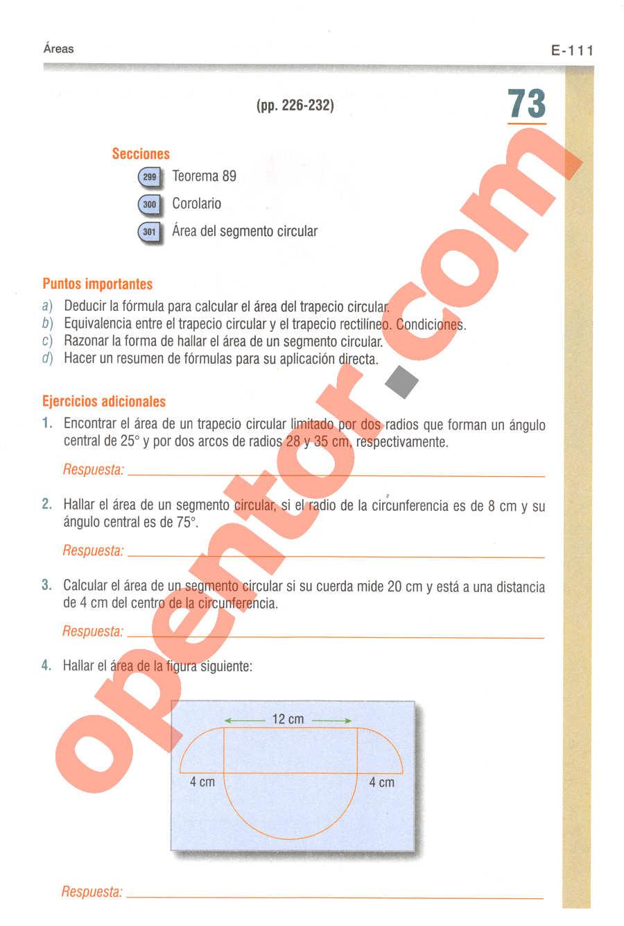 Geometría y Trigonometría de Baldor - Página E111