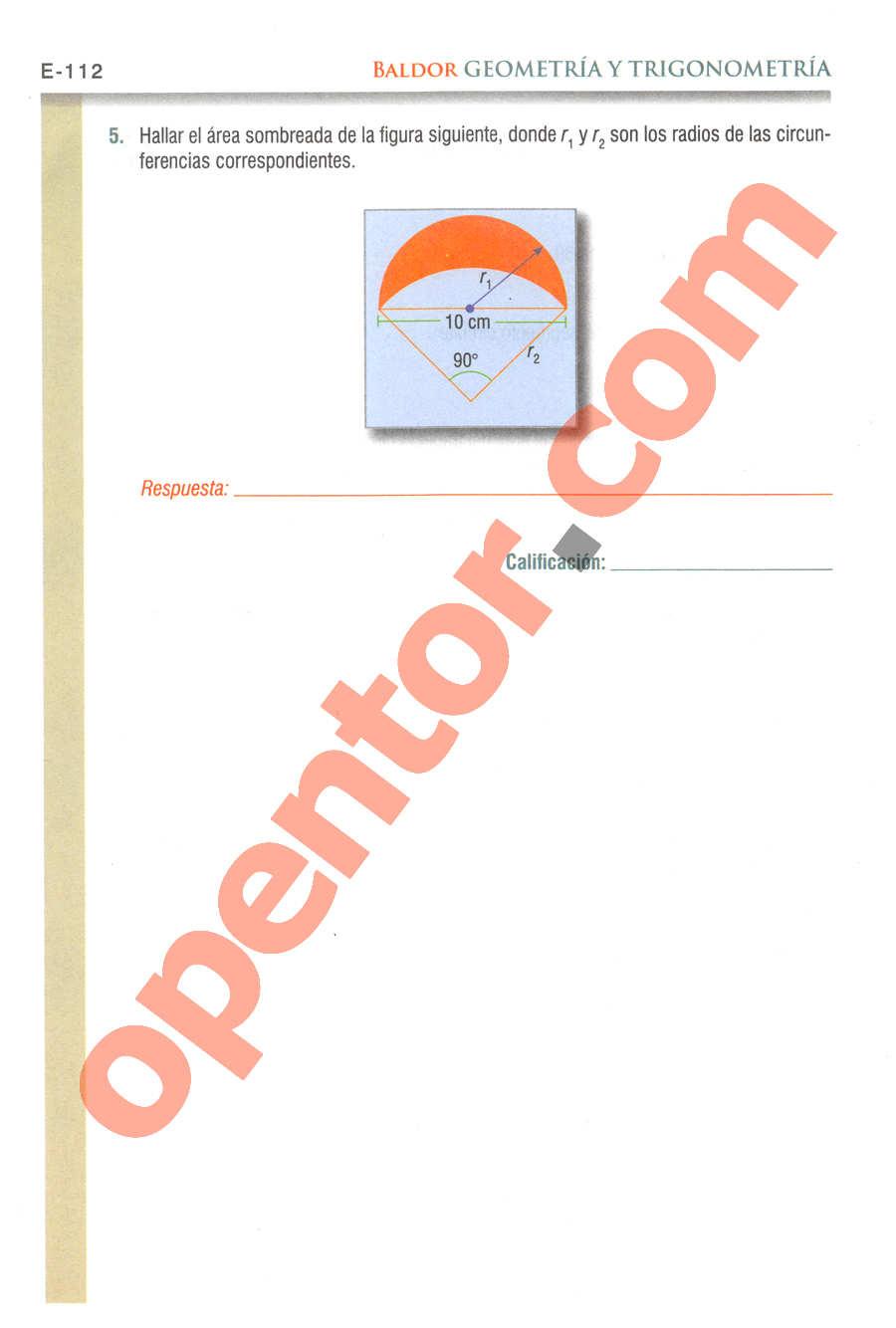 Geometría y Trigonometría de Baldor - Página E112