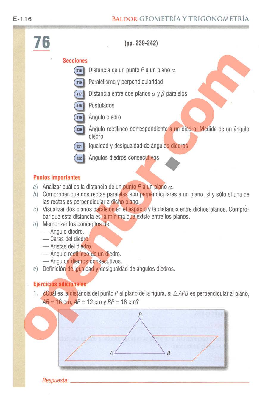 Geometría y Trigonometría de Baldor - Página E116