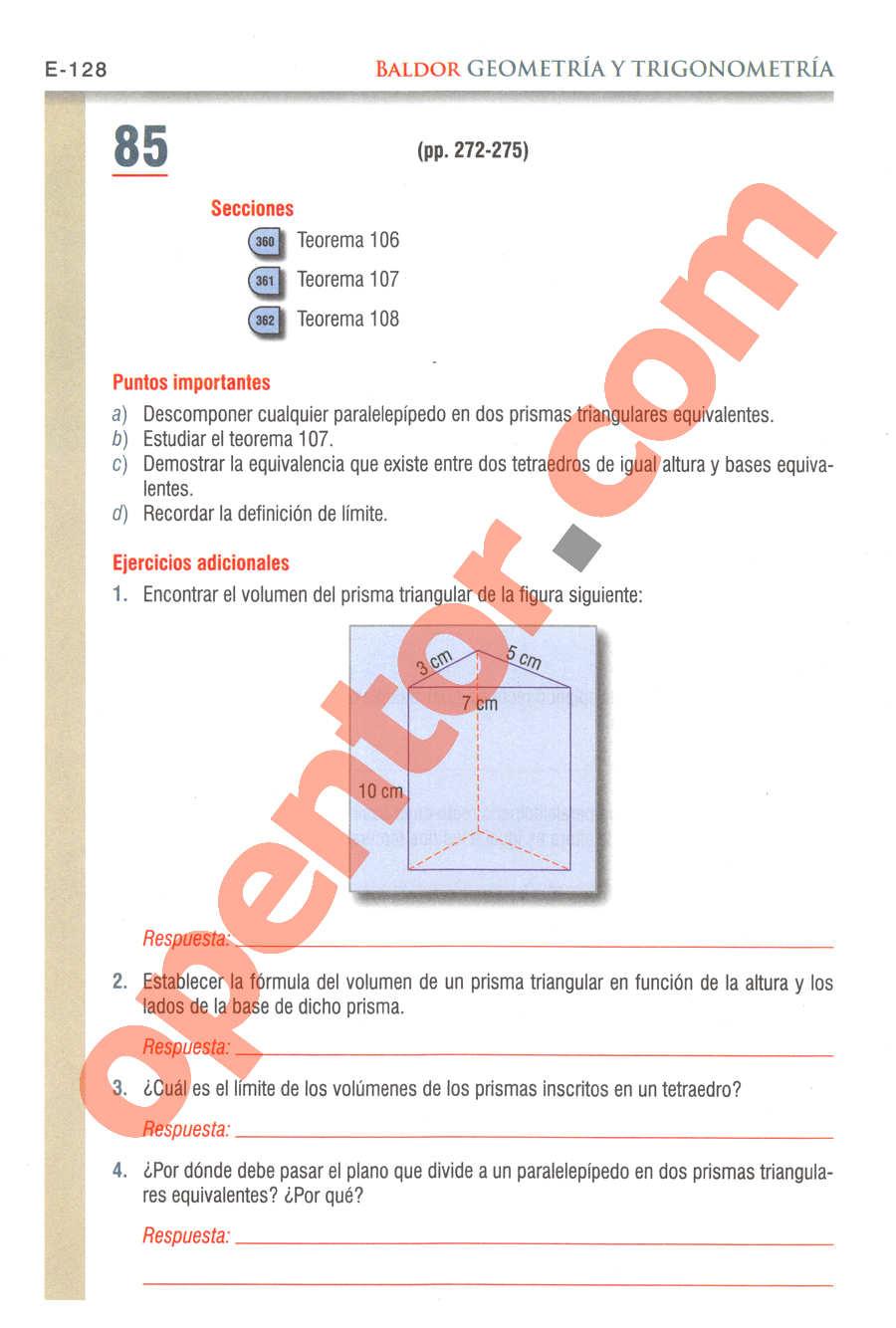 Geometría y Trigonometría de Baldor - Página E128