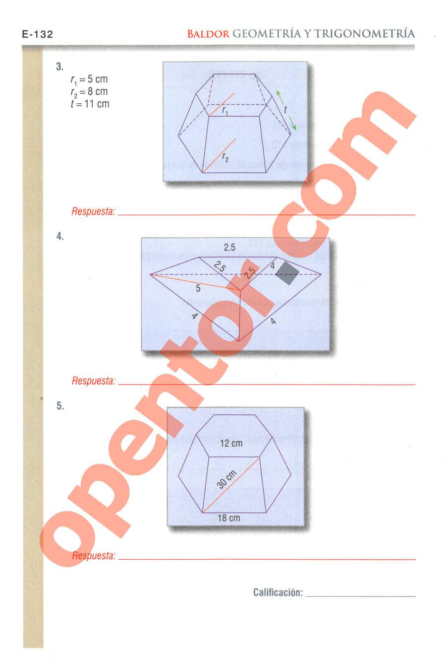 Geometría y Trigonometría de Baldor - Página E132