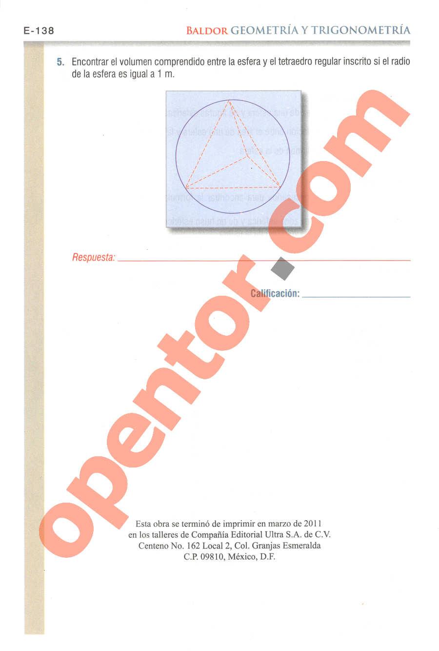 Geometría y Trigonometría de Baldor - Página E138