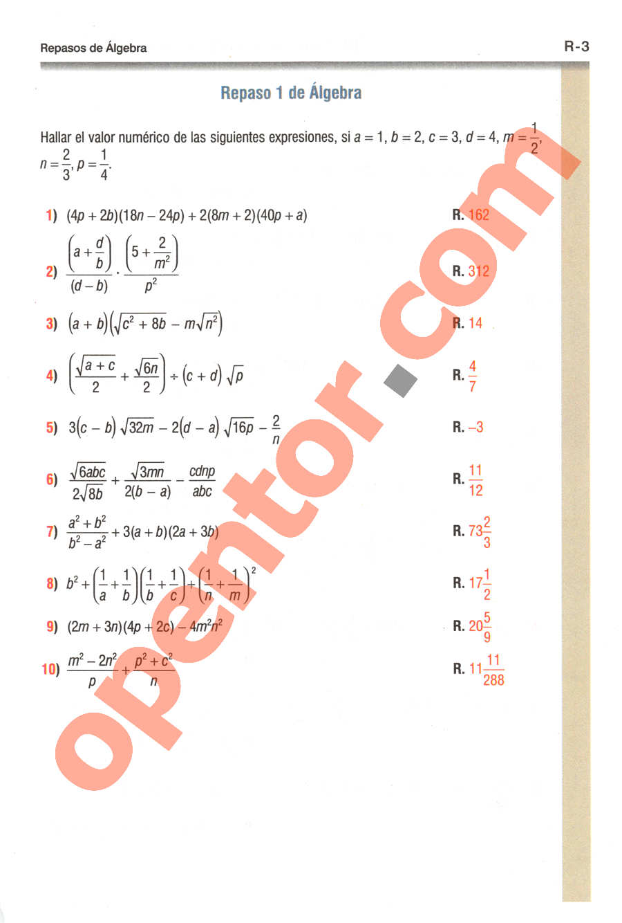 Geometría y Trigonometría de Baldor - Página R3