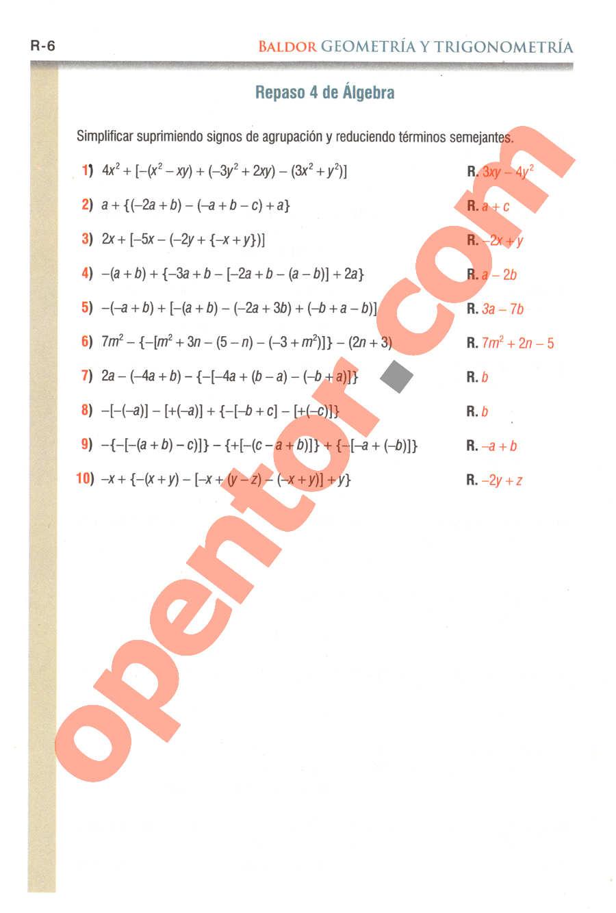 Geometría y Trigonometría de Baldor - Página R6