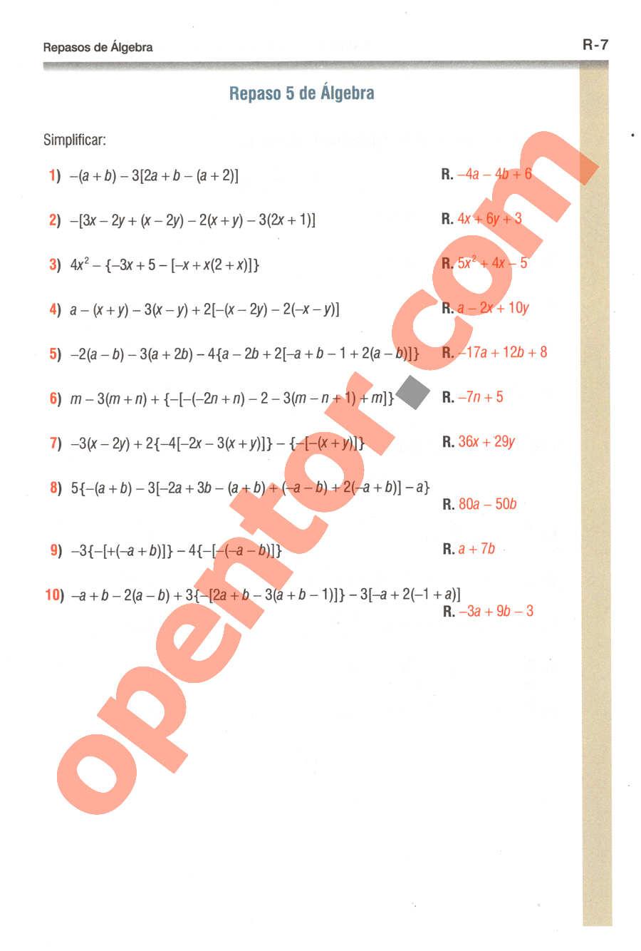 Geometría y Trigonometría de Baldor - Página R7