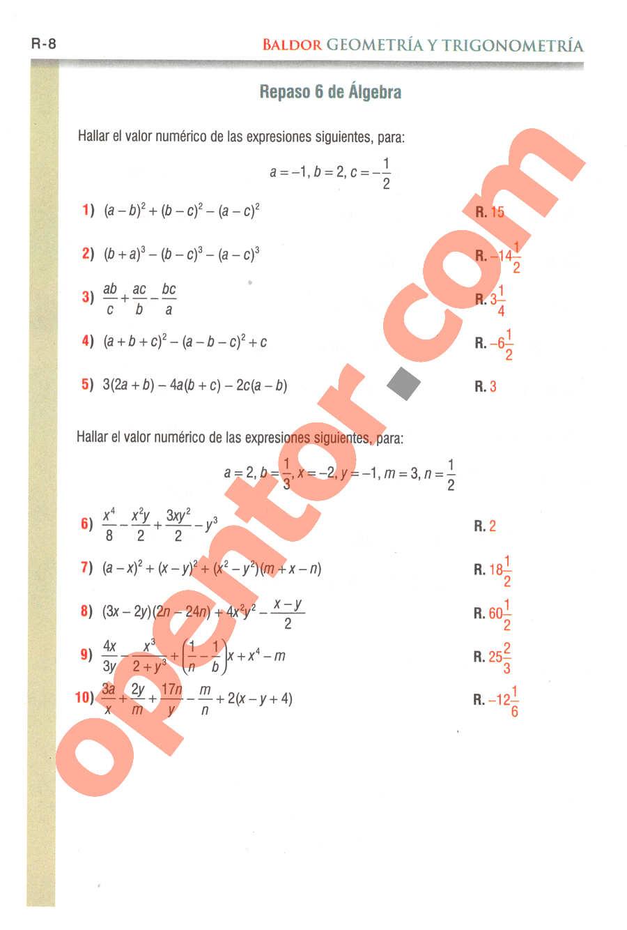 Geometría y Trigonometría de Baldor - Página R8