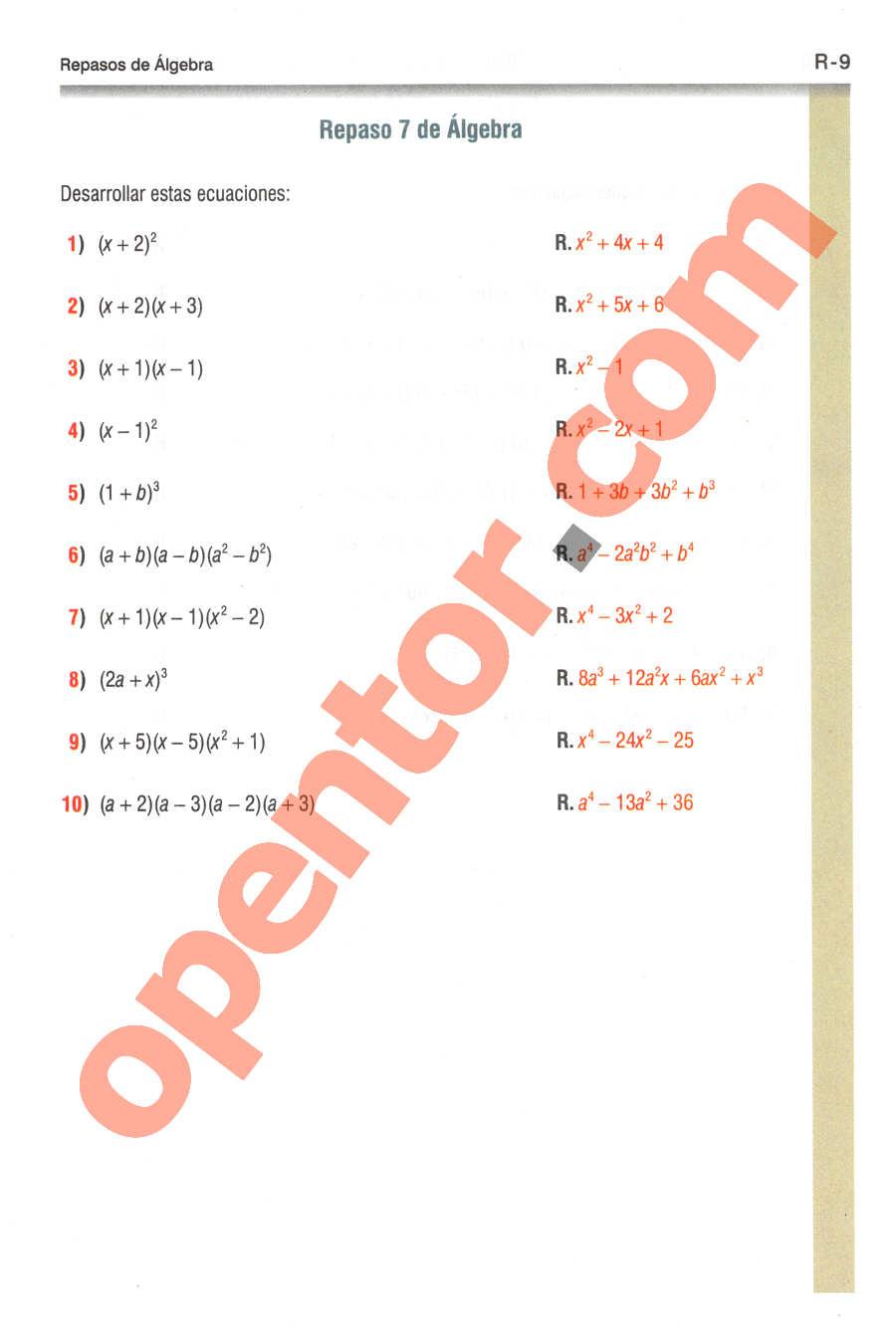 Geometría y Trigonometría de Baldor - Página R9