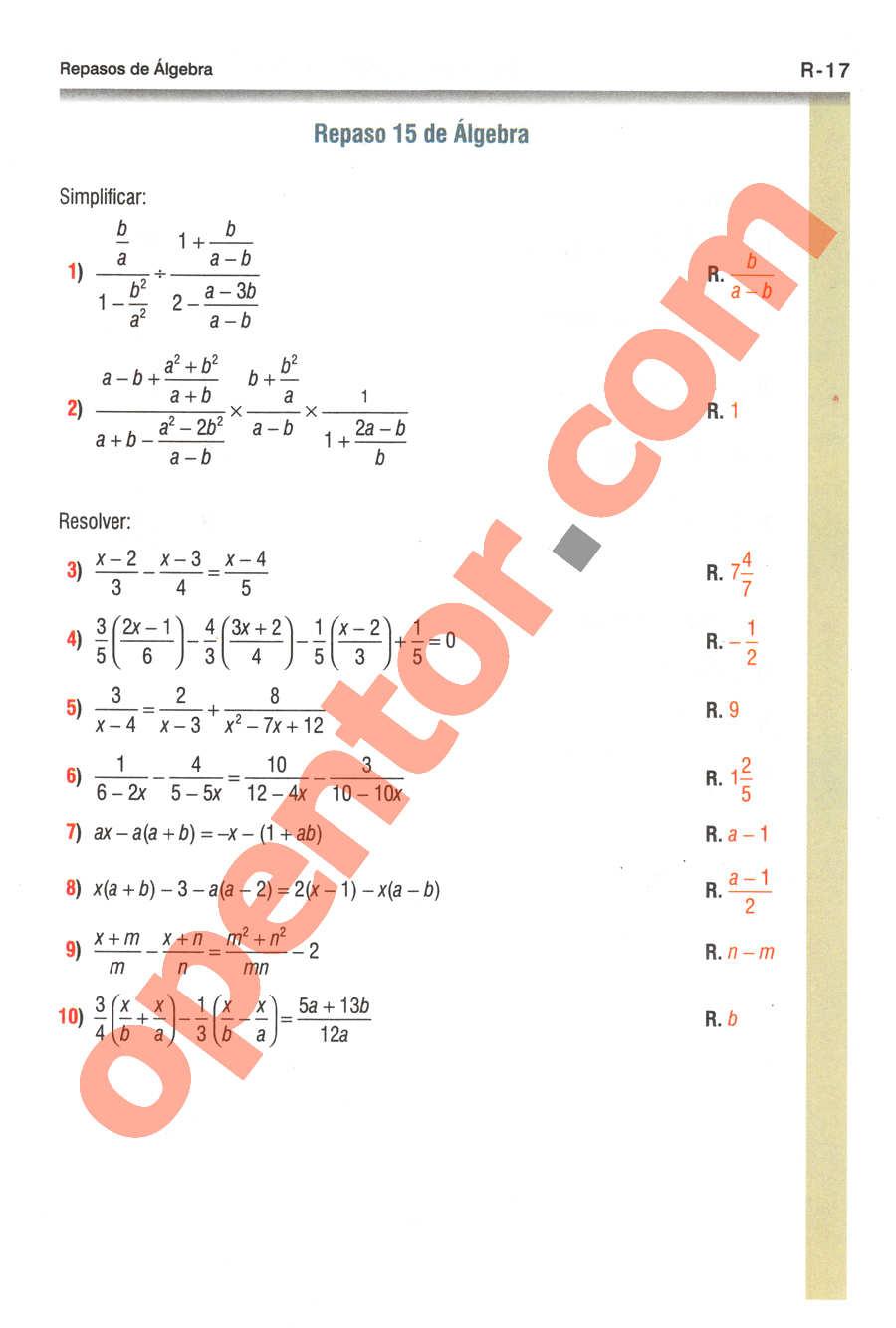 Geometría y Trigonometría de Baldor - Página R17
