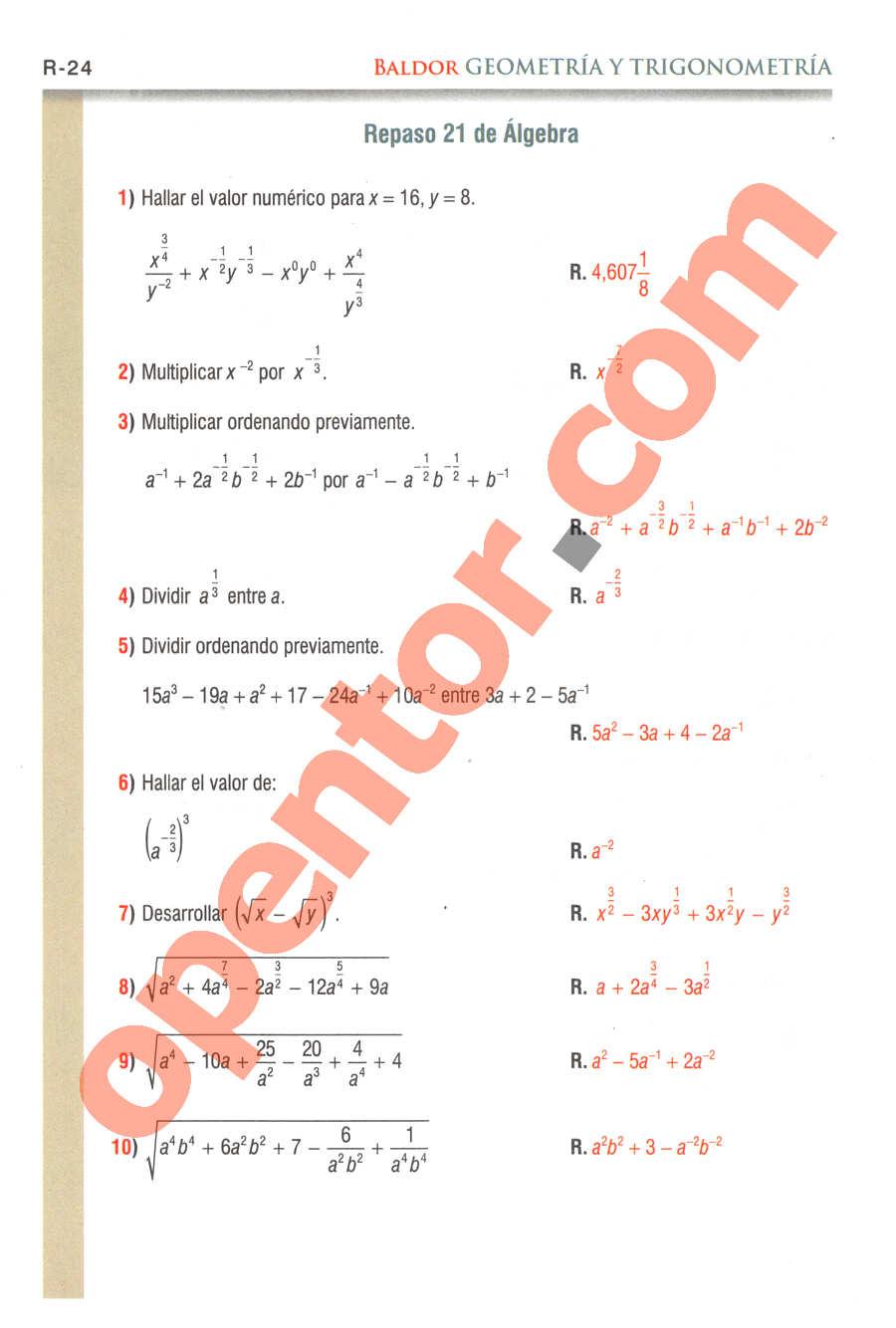 Geometría y Trigonometría de Baldor - Página R24