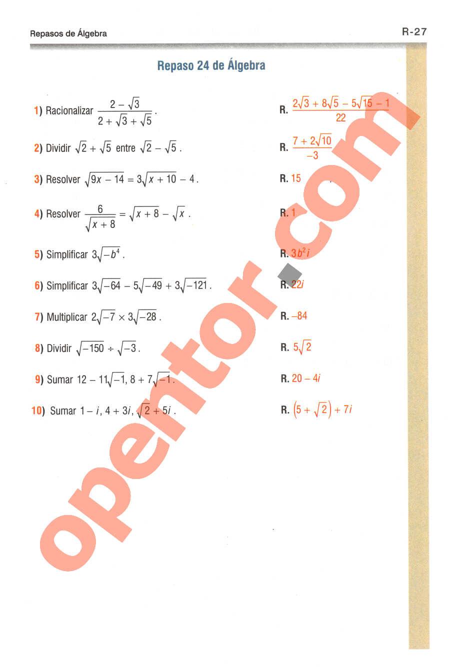 Geometría y Trigonometría de Baldor - Página R27
