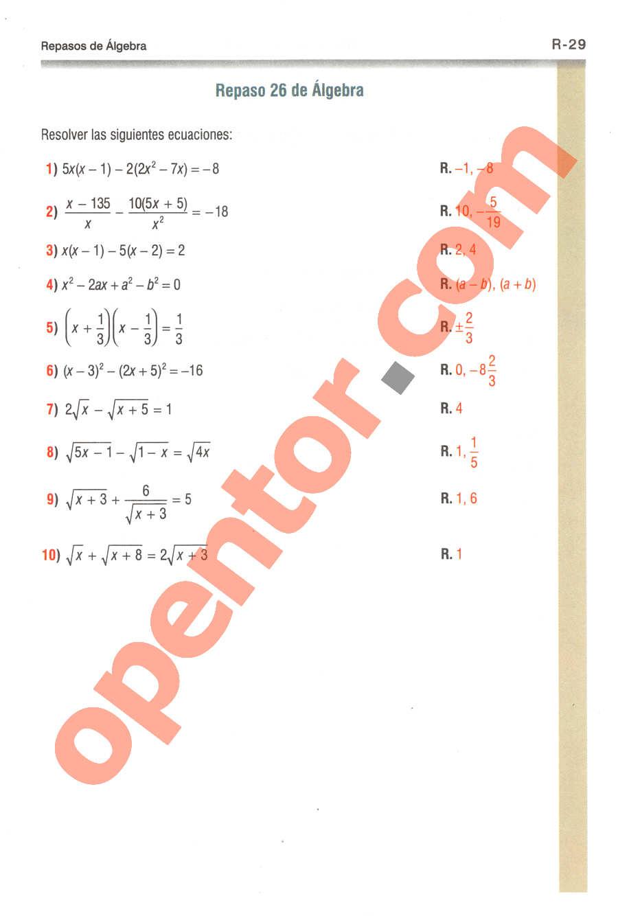 Geometría y Trigonometría de Baldor - Página R29