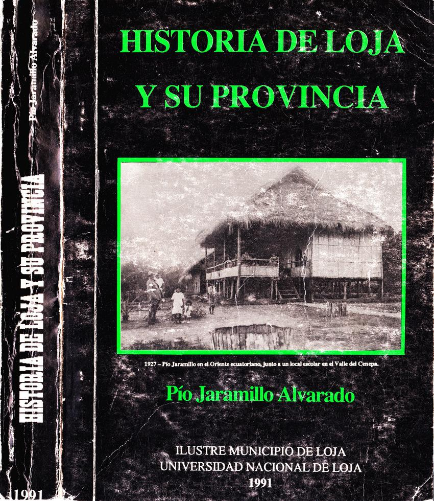 Historia de Loja y su provincia - Portada